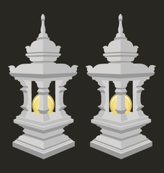 Lantern with thai style vector