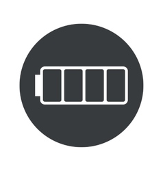 Monochrome round empty battery icon vector