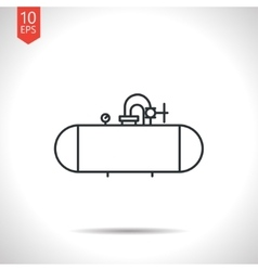 Color flat cistern icon vector