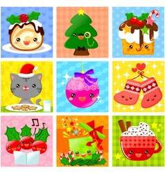 Cute christmas collection vector