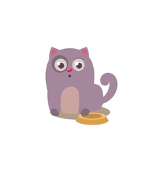 Cat With Empty Plate vector image