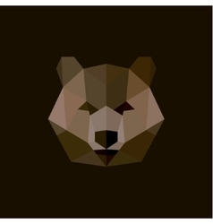 Brown bear style low poly high-quality vector