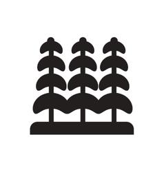 Black icon on white background tree vector