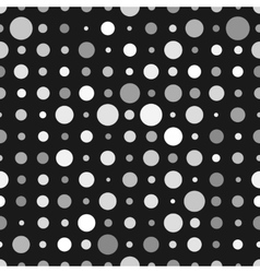 Abstract background with white circles isolated on vector image vector image