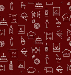 Bar line icon seamless red pattern vector