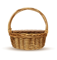 Basket realistic side view image vector