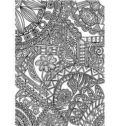 black white pattern vector image vector image