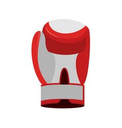 Boxing glove red accessory for boxer sports vector