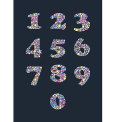 Colorful diamond numbers with gemstones vector