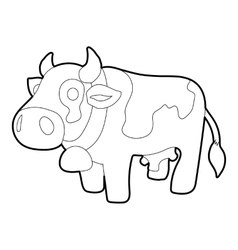 Cow icon outline style vector