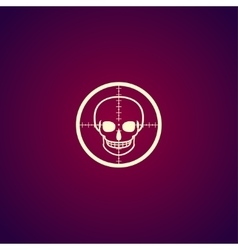 Crosshair icon with a skull vector