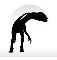 dinosaurs dilophosaurus vector image