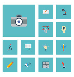flat icons scheme concept idea and other vector image vector image