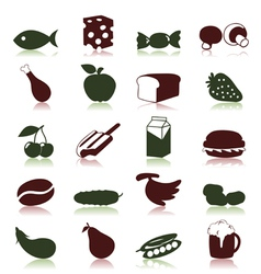 Food and meal icons vector