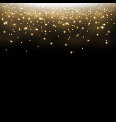 glittering stardust sparkling particles vector image