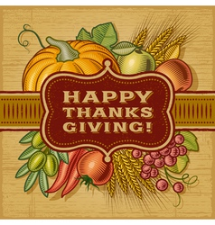 Happy Thanksgiving Retro Card vector image vector image