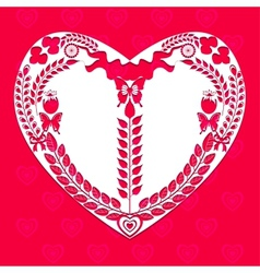 Heart shape of decorative elements vector image vector image