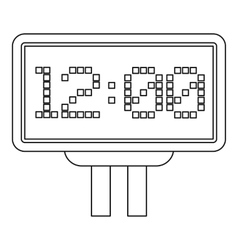 Home and guest scoreboard icon outline style vector