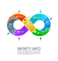 infinity icons puzzle vector image