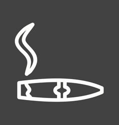 Lit cigar vector