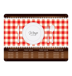 Menu woode sign vector