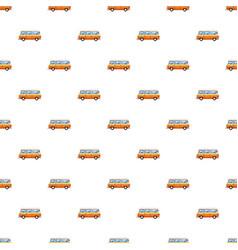 Mini bus pattern vector