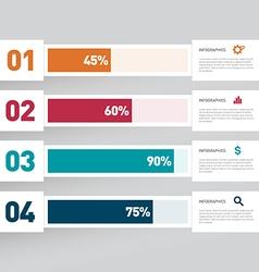 Modern infographics design element vector image vector image