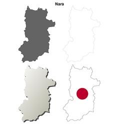 Nara blank outline map set vector