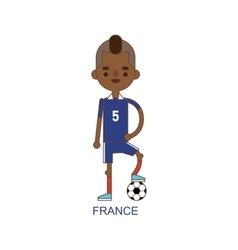 National hollandsoccer football player vector