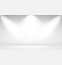 photo studio room empty white interior realistic vector image vector image