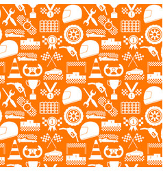 racing sport background pattern on a orange vector image