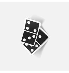Realistic design element domino vector