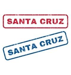 Santa cruz rubber stamps vector