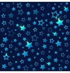 Shining stars seamless pattern dark starry sky vector
