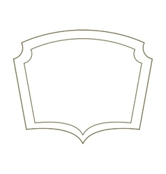 silhouette border heraldic decorative frame vector image vector image