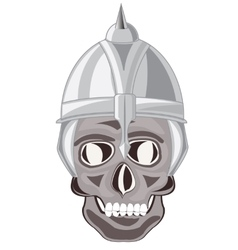 Skull of the person in send vector image