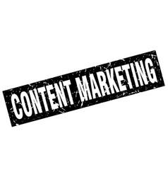 Square grunge black content marketing stamp vector