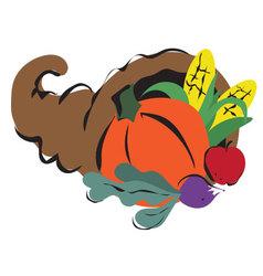 Thanksgiving cornucopia vector
