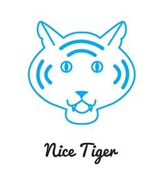 Tiger logo or icon in color wild ca vector