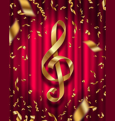 Treble clef sign vector