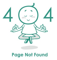 Error 404 page layout design vector