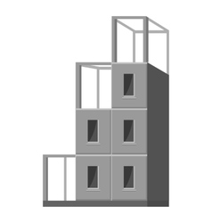 Building a house icon gray monochrome style vector