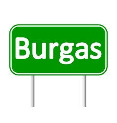 Burgas road sign vector