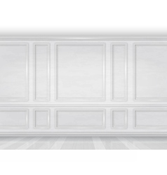 white wooden wall panel vector image