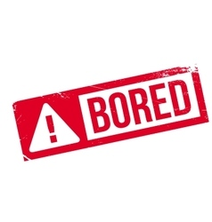 Bored rubber stamp vector