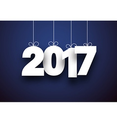 2017 new year blue background vector