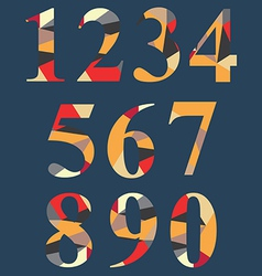 Abstract number set vector