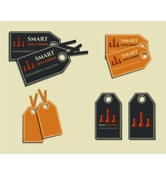 Set of business labels - stickers for management vector