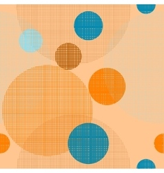 Fabric circles seamless pattern vector