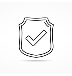 Shield line icon vector
